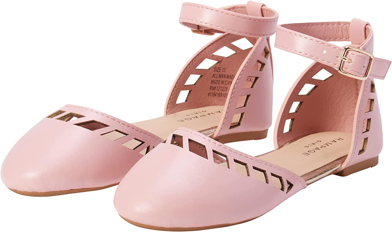 Rampage Girls' Sandals - Limited time cheap sale Classic with Buckle Flats Ballet Excellent Ankle