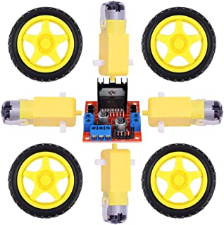 L298N Motor Driver Module Controller Board Dual H-Bridge With Robot Stepper DC TT Motor 1:48 And Smart Car Tire For Arduin...