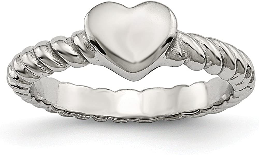 Best Designer Large special price Jewelry Low price Stainless Steel Twisted Heart Rin Polished