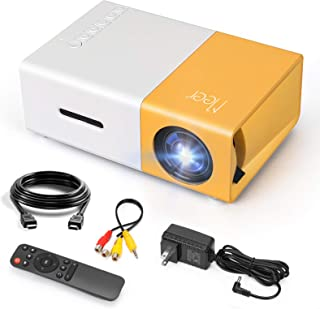 Mini Projector, Meer Portable Pico Full Color LED LCD Video Projector for Children Present, Video...