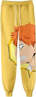 MIHE Pantalones Deportivos De Anime Haikyuu !! Impresión 3D, Adecuada para Niños Y Niñas, Pantalones Deportivos Casuales, ...