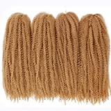 18Inch Marley Hair for Twists Braiding Hair Afro Kinky Twist 4Packs/Lot Crochet Braids Synthetic Fiber Hair Extensions for Women(27#)