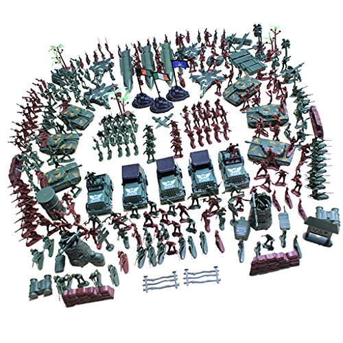 Baoblaze 1 Conjunto de Juguete de Figura de Soldado Militar de Plásticos Soldier Playset - 307 Piezas