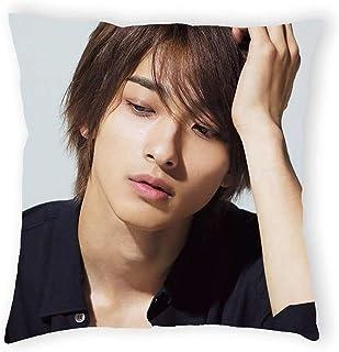 横滨流星 枕カバ 枕套 45×45CM 附带定制拉链 坐垫套 角色扮演 キャラクター 两用经编针织物 双面