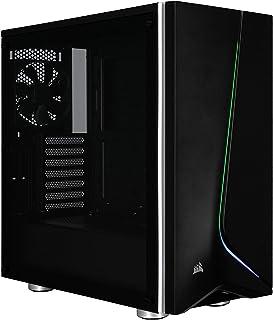 Corsair Carbide Series SPEC-06 RGB -  Chasis micro-ATX (panel de cristal templado, iluminación RGB) (CC-9011146-WW)