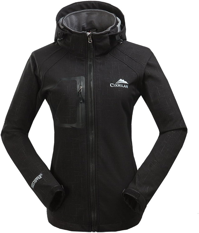 BOSOZOKU Women's Hooded Jacket Outdoor Waterproof Sportswear
