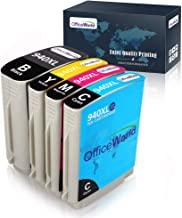 OfficeWorld HP 940 940XL Compatible Ink Cartridge Replacement for HP 940XL 940 XL (4 Packs), for use with HP Officejet Pro 8000 8500 8500A 8500A Plus Printer