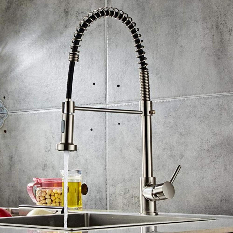 Küchenarmatur Pull-down Küchenarmatur Sprühkopf Pinsel Nylon Wasserleitung Stretch Gedreht Einlochmontage Küchenarmatur Home Supplies