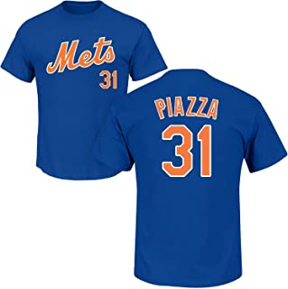 OuterStuff Mike Piazza New York Mets #31 Youth Player Name & Number T-Shirt Blue (Youth Medium 10/12)