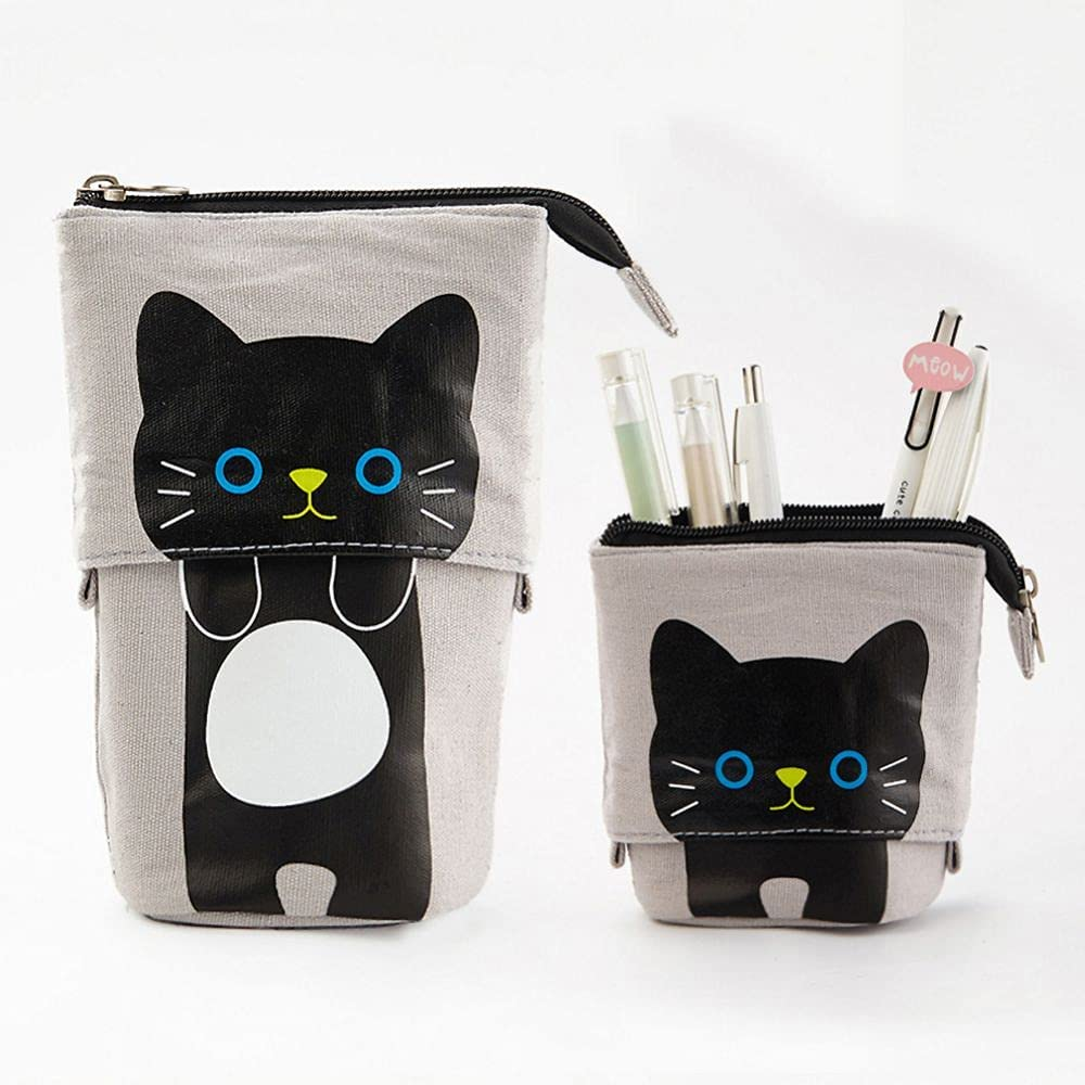 Cartoon Cute shop Cat Ranking TOP15 Pencil Pouch Bag Stationery Canvas Standing Pen