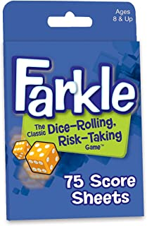 Farkle Dice Game Score Sheets
