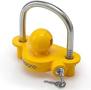 comprar comparacion Monzana Candado para remolque Amarillo robusto enganche para moto caravana tráiler protección seguridad antirrobos llave