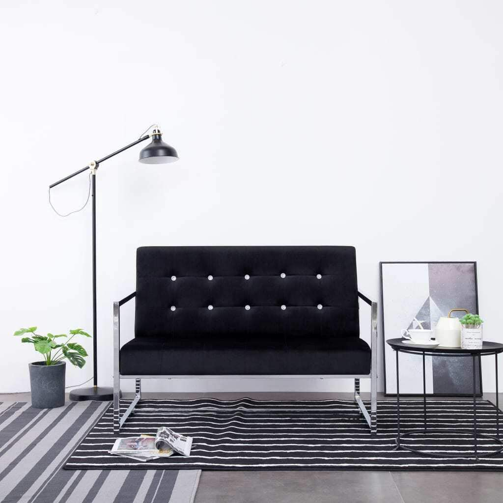 Challenge the lowest price of Japan ☆ vidaXL 2-Seater Sofa with Armrests Home Modern Fr Time sale Bedroom Sturdy