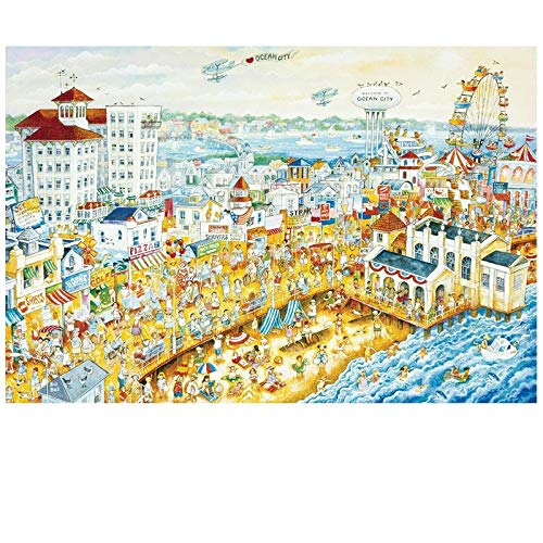 WAWDH Ocean Park Rompecabezas 1000 Piezas Adultos Puzzle DIY Niños Clásico Juego Divertido Ensamblaje desafiante Intelectual Arte De La Pared Decoraciones Casuales-50cmx75cm