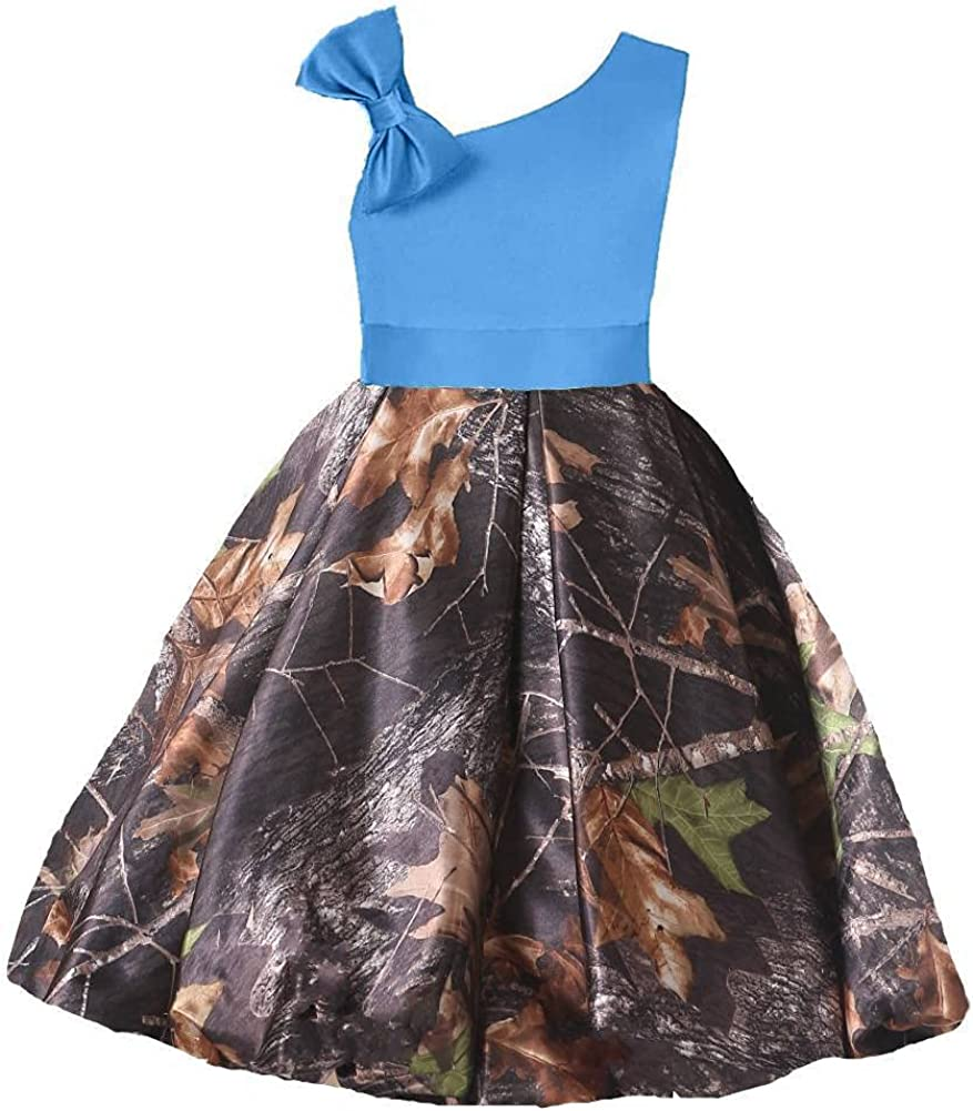 YINGJIABride Washington Mall Satin and Camo Flower Little Ba Quince low-pricing Girl Dresses
