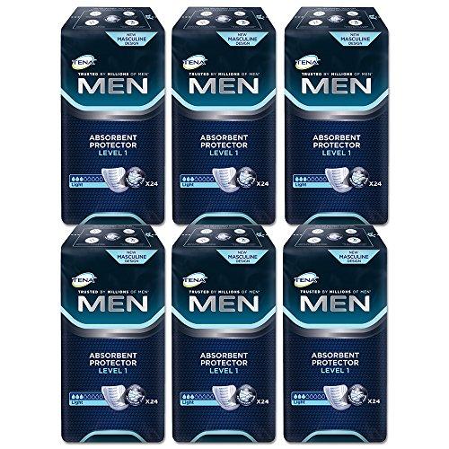 TENA TENA Men Level 1 10004878 - Compresas (6 paquetes de 24 unidades)