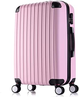 Trolley Case Lightweight Hard Shell 4 Wheel Spinner ABS Travel Trolley Suitcase Luggage Set Holdall Cabin Case (20inch/22inch) (Color : Gray, Size : 20inch) Travel Luggage Carry-Ons