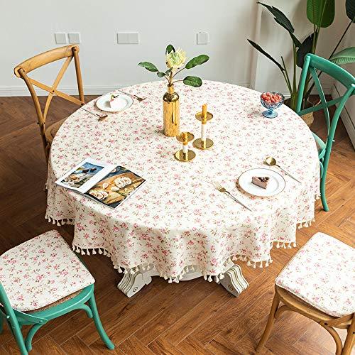XACXYDP Polyestergewebe Runde Rechteckige Bedruckte Tischdecke Mit Fransen Hotel Restaurant Tisch wasserdichte öLdichte Tischdecke