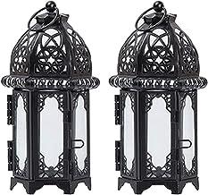 OSALADI 2 peças de suporte de vela decorativo estilo marroquino para pendurar ferro tempestade lanterna de mesa de casamen...