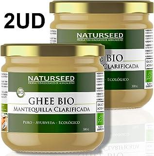 Naturseed Ghee Organico - Mantequilla Clarificada Bio Pura Ayurveda - Sin Lactosa - Vacas alimentadas sólo
