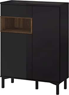 Tvilum Aberdeen 1 Drawer and and 2 Door Sideboard, Black/Walnut