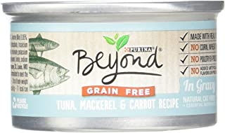Purina Beyond Natural Canned Cat Food, Grain Free, Tuna, Mackerel and Carrot Recipe, 3-Ounce Can, Pack of 12