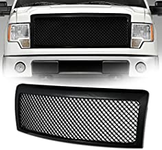 VXMOTOR for 2009-2014 Ford F150 - Black Sport Luxury Mesh Style Front Hood Bumper Grill Grille Guard ABS