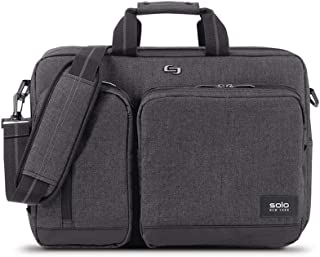 Duane Convertible Briefcase. Fits up to a 15.6-Inch Laptop. Converts to Backpack, Briefcase or Messenger Bag. Laptop Bag for Men or Women - Grey