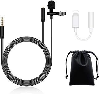 Profesional Micrófono de Solapa lavalier para Celular Smartphone - AVEDISANTE Micrófono omnidireccional con Clip fácil en ...