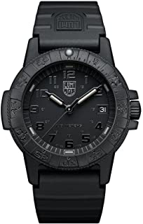Luminox Navy Seal Watch for Men and Women Black Out (XS.0301.BO / 0300 Series): 100 Meter Water Resistant + Light Weight Case + Hardened Mineral Glas
