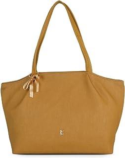 Baggit Autumn-Winter 2020 Faux Leather Women's Tote Handbag (Yellow) (Pintuck)