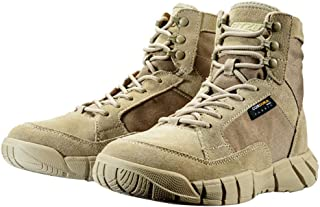 Image of ZJDU Tactical Boots Lightweight Combat Boots Durable Hiking Boots Military Boots,Casual Outdoor Hiking Hunting Travel, Hiking, Adventure Breathable Waterproof Boots-for Men and Women,Sand,44