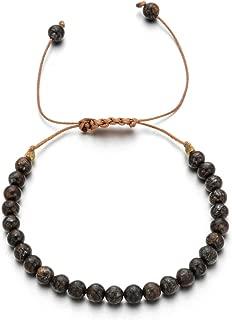 Simple Retro Natural Stone Lapis Lazuli Bracelet Vintage Handmade Bracelet Adjustable Beads Bohemian Bracelets for Women