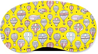 Hot Air Balloons & Zeppelin Yellow - Sleeping Mask - Sleeping Mask
