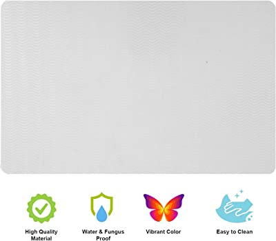 E-Retailer® Multipurpose Set of 6 PVC Waterproof Placemats/Table Mats for Dining Table (White, Size: 44x29 cm)