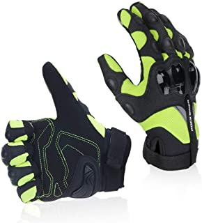 KEMIMOTO Full Finger Motorcycle Gloves Breathable Motorbike Motocross Riding BMX ATV Racing Cycling Hard Knuckle Gloves with Touch Screen