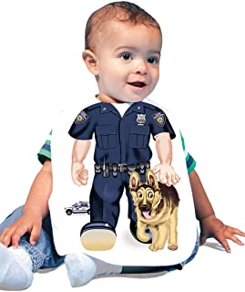 Just Add A Kid 947 Police K9 Baby Oversize Bib 0-18 Months White