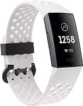 متعقب اللياقة البدنية المتطور فيتبيت تشارج 3 مع خاصية معرفة معدل ضربات القلب وتعقب السباحة وبطارية تعمل لسبعة ايام