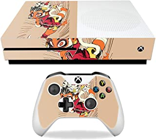MightySkins Skin Compatible with Microsoft Xbox One S - Monkey Girl   Protective, Durable, and Unique Vinyl Decal wrap Cover   Easy to Apply, Remove, and Change Styles   Made in The USA