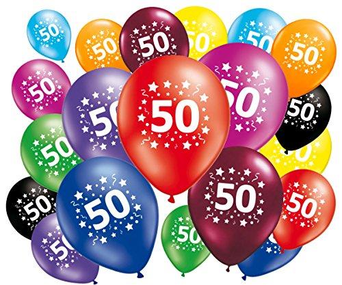 Fabsud Luftballons zum 50. Geburtstag, 20 Stück