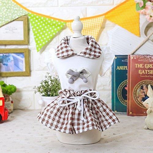 EgBert Sommer Prinzessin Maid Hundezress Hauskleidung Für Hundezäntchen Kleidung Für Hunde-Haustiere Hundekleidung - Kaffee - M