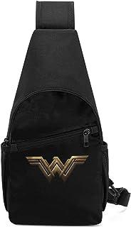 JHUIK Wonder Woman Sling Bag/Crossbody Mochila de pecho/Bolsos de hombro para hombres Mujeres Viajes Senderismo Ciclismo M...