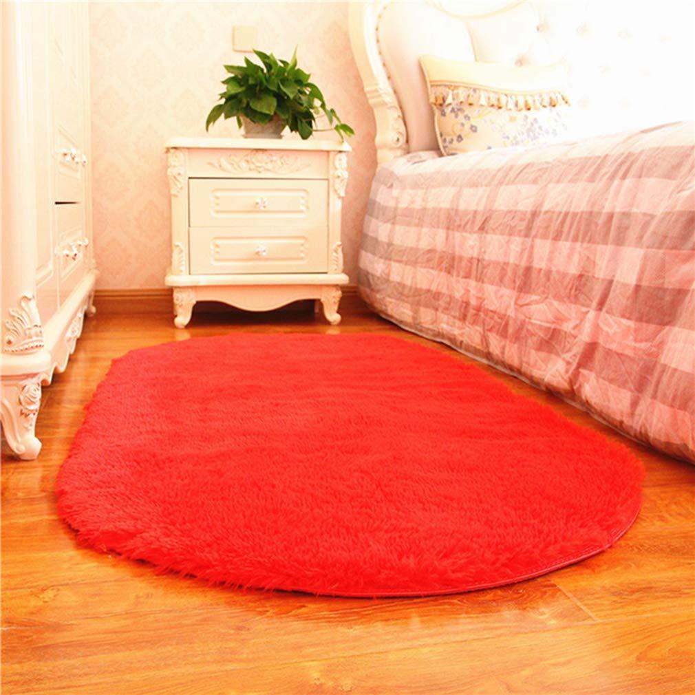 ラグマット 洗える 滑り止め 和室 子供部屋 寝室 絨毯 長方形 レッド マイクロファイバーフラッフィラグカーペットホットカーペット対応 北欧 120*200 モダンおしゃれ シャギーラグじゅうたん