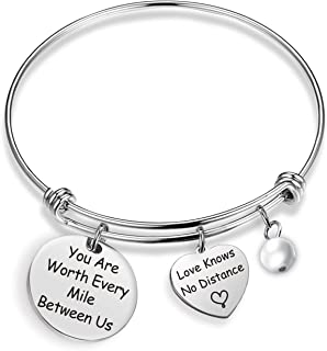 you are worth every mile between us bracelet
