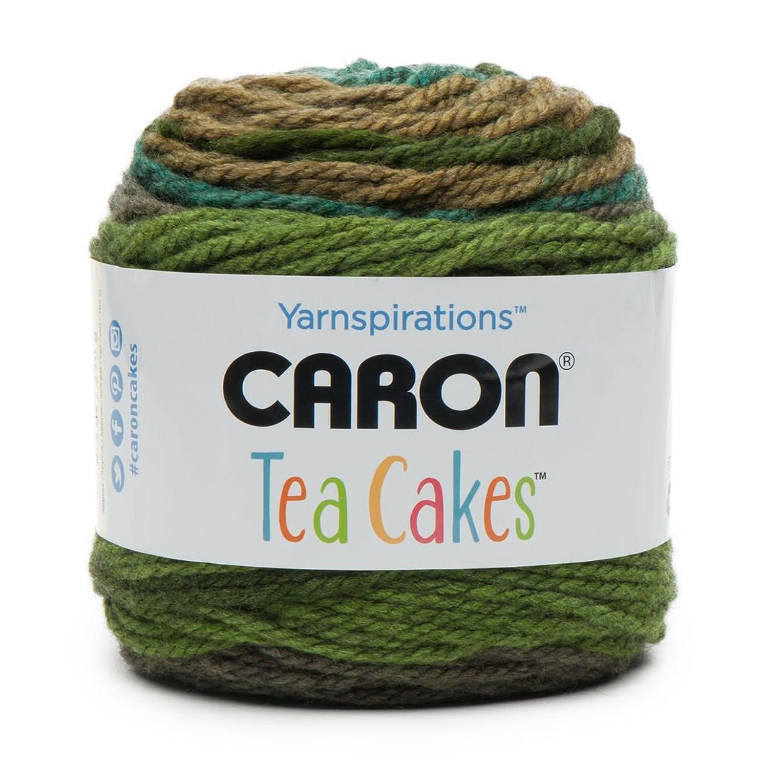 Caron Tea Cakes Acrylic-Wool Blend Yarn ~ 8.5 oz. Each (Green Tea)