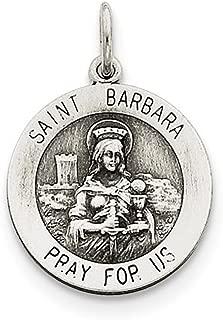 Sterling Silver St. Barbara Medal (26X20MM)