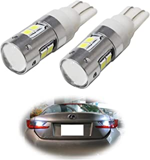 iJDMTOY (2) High Power 2835-SMD 906 912 920 921 W16W LED Bulbs Compatible With Car Backup Reverse Lights Replacement,  Xenon White