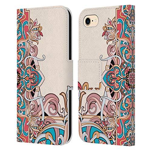 Head Case Designs Licenza Ufficiale Giulio Rossi Damasco Collezione Deco Cover in Pelle a Portafoglio Compatibile con Apple iPhone 7 / iPhone 8 / iPhone SE 2020