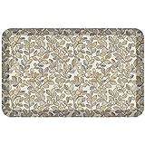 GelPro Designer Comfort 3/4' Thick Ergo-Foam Anti-Fatigue Kitchen Floor Mat, 20'x32', Orchard Almond