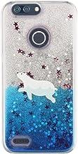 Cute Cartoon Polar Bear Penguin Dolphin Love Hearts Print Dynamic Floating Quicksand Liquid Glitter Sparkle Stars TPU Case...